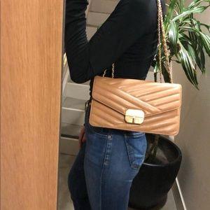 Auth CHANEL Chevron Gabrielle Flap Shoulder Bag